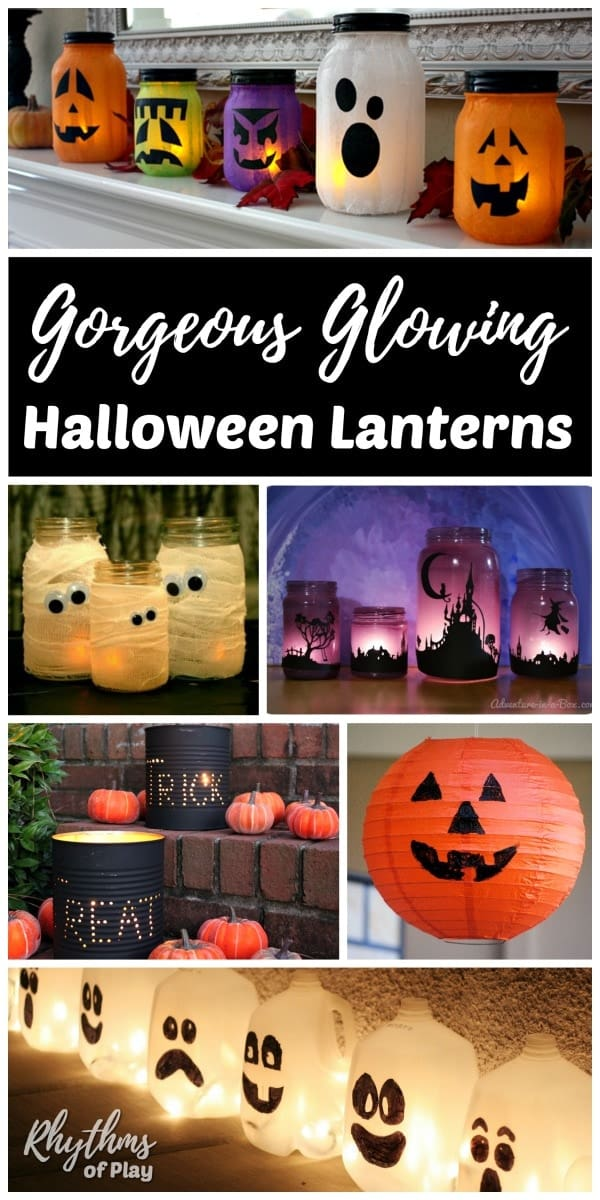 Halloween Decor DIY lanterns and luminaries