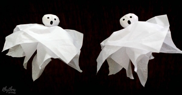 Ghost craft and DIY Halloween ghost decor