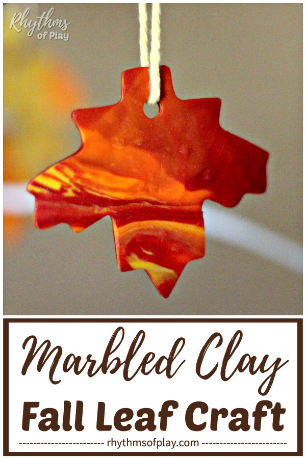 fall leaf craft - how to make polymer clay leaves