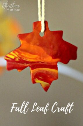 fall leaf crafts made with polyform clay
