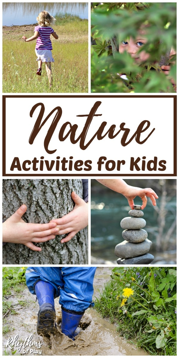 Forest school outdoor learning ideas and nature activities for children of all ages.
