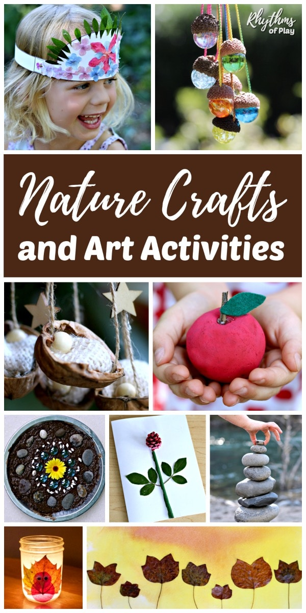 Nature art activities and nature craft ideas for kids and adults of all ages!