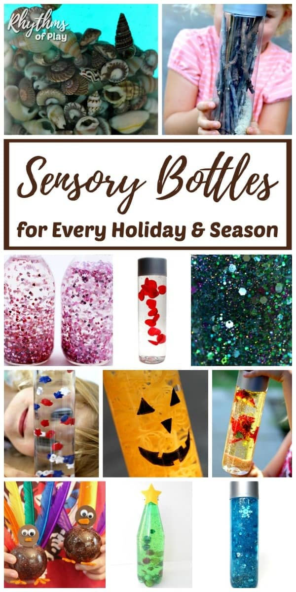 The best DIY sensory bottles for every holiday and season!