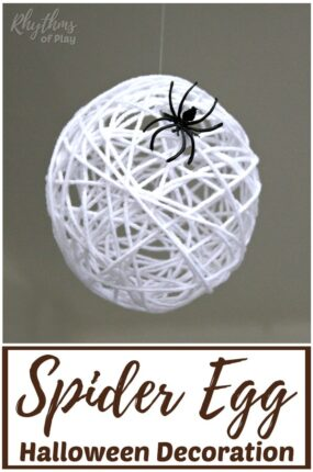 Spider egg Halloween decor and craft