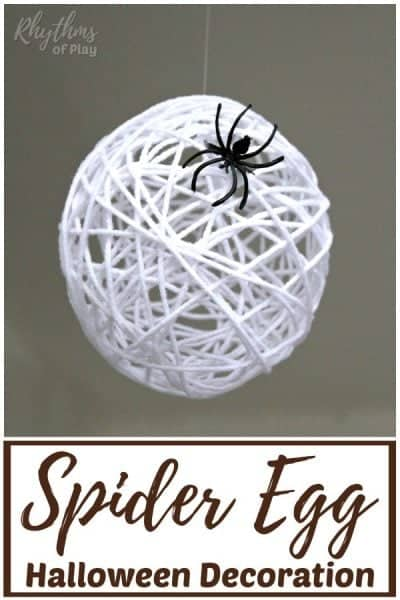 Spider egg Halloween decor and craft