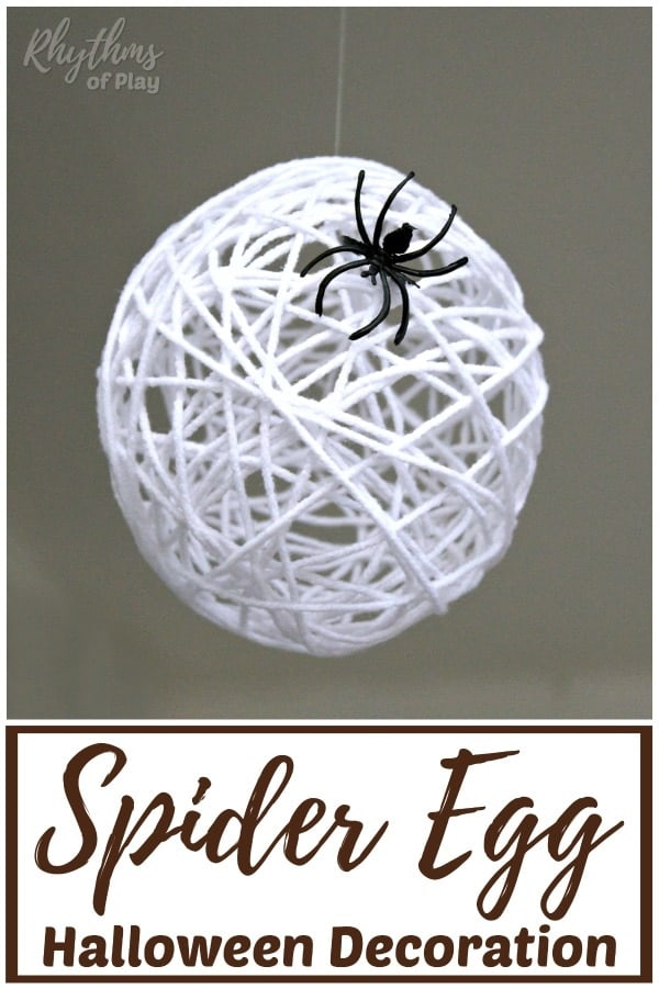 Spider egg sac DIY Halloween decoration and craft