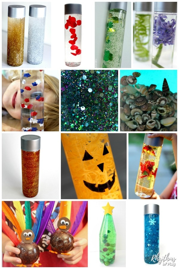Sensory bottle recipes for every season and holiday