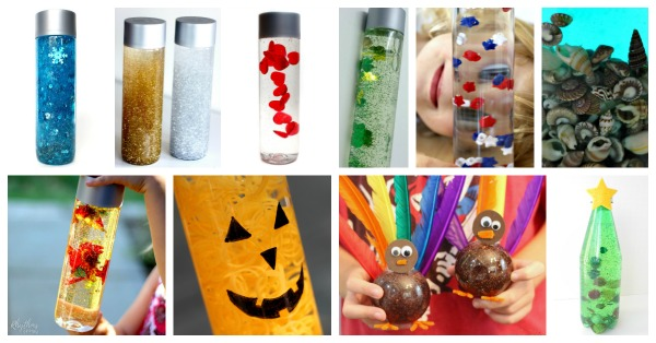 Sensory bottles for every season and holiday