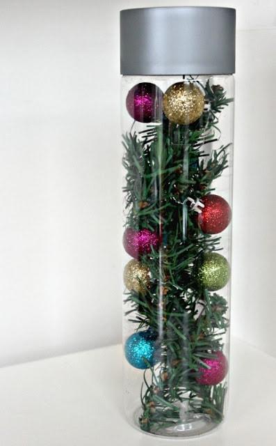 Christmas tree sensory bottle idea by sunny day family