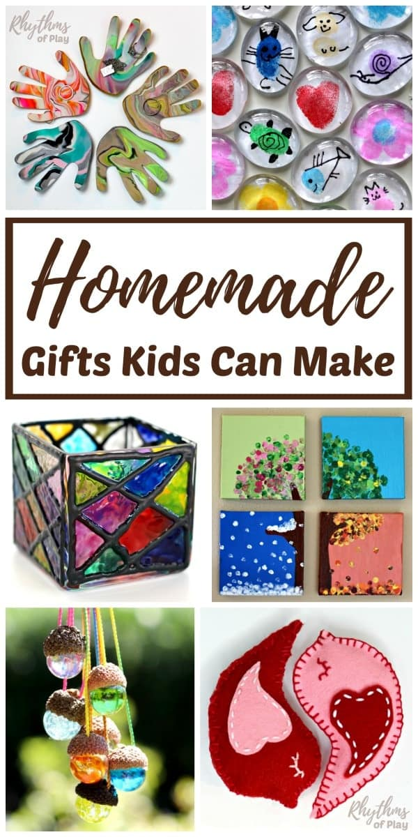 DIY gifts kids can make for Christmas, Mother's Day, Father's Day or a  birthday - Homemade Gifts Kids Can Make For Parents And Grandparents Rhythms
