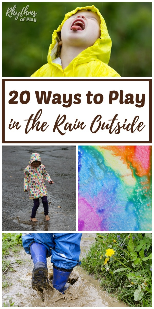 Outside rainy day activities for kids