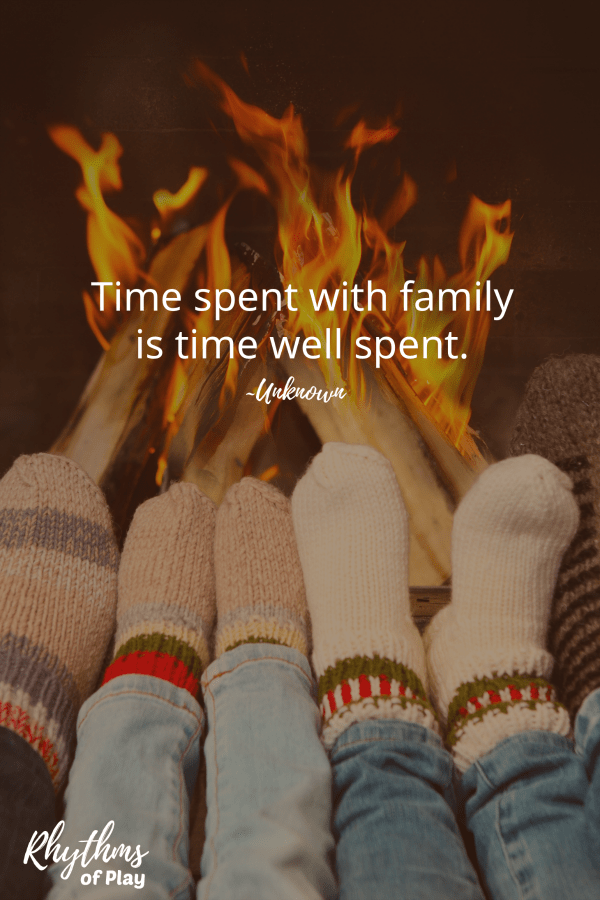 "Thanksgiving traditions ""Time spend with family is time well spent."" quote meme pin"