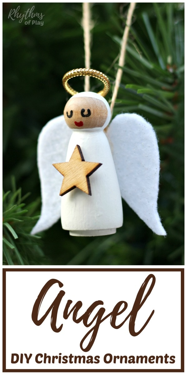 Homemade Angel Christmas Ornament