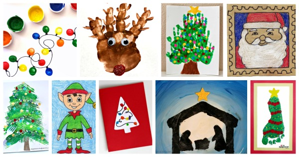 Christmas art project ideas for children