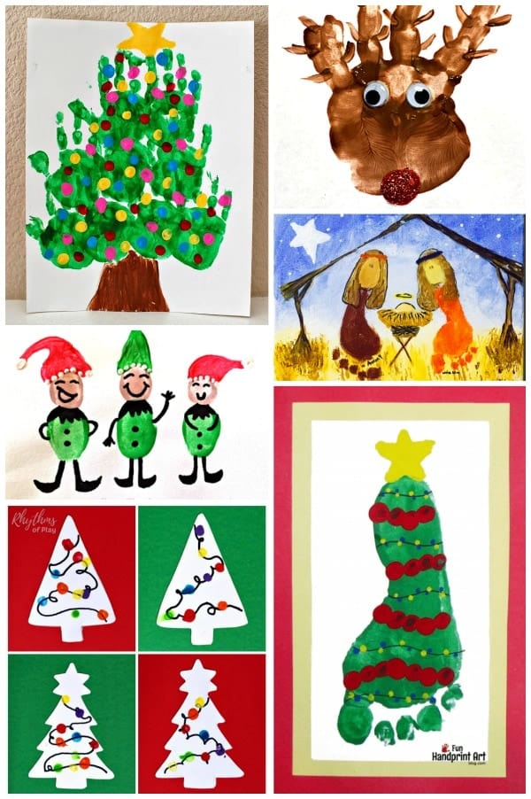Christmas art projects for kids from toddlers to teens