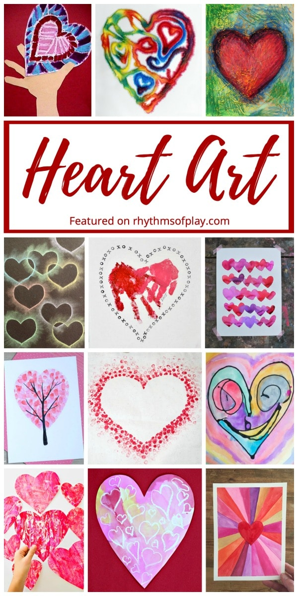 heart art projects