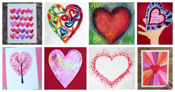 heart painting ideas