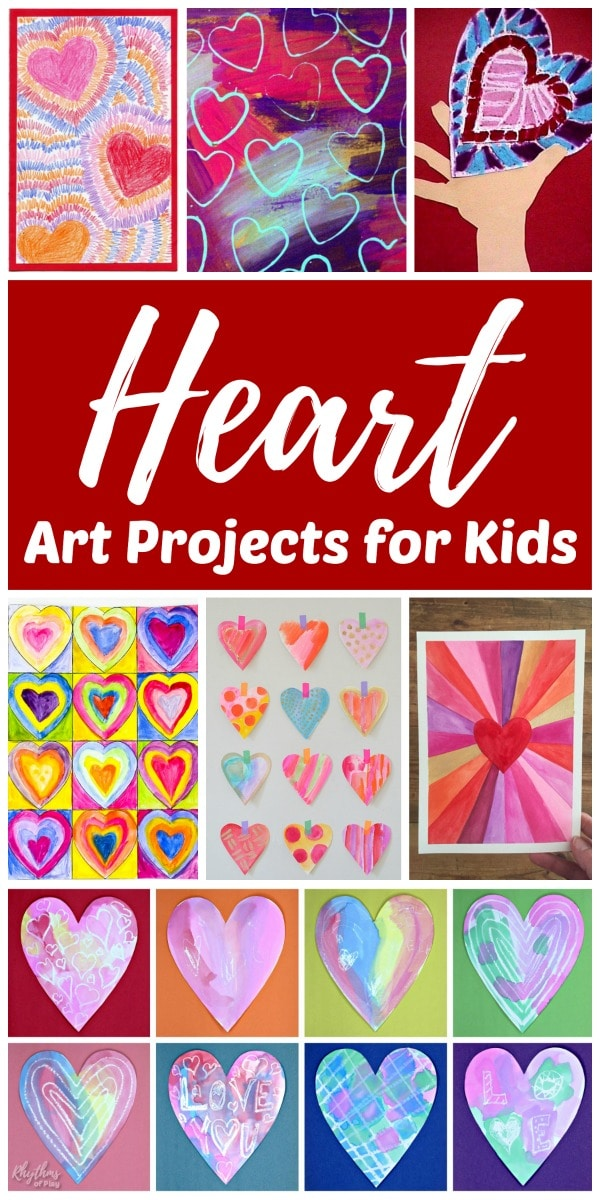 heart art painting ideas and crafts that make great gifts