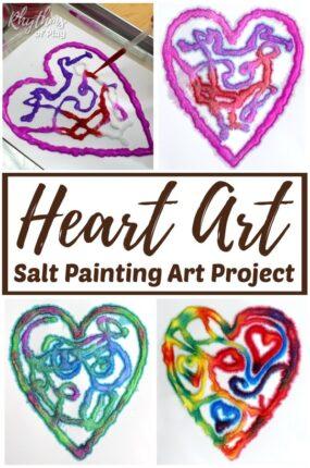 raised salt heart art