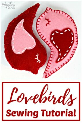 How to sew a lovebird with printable pattern