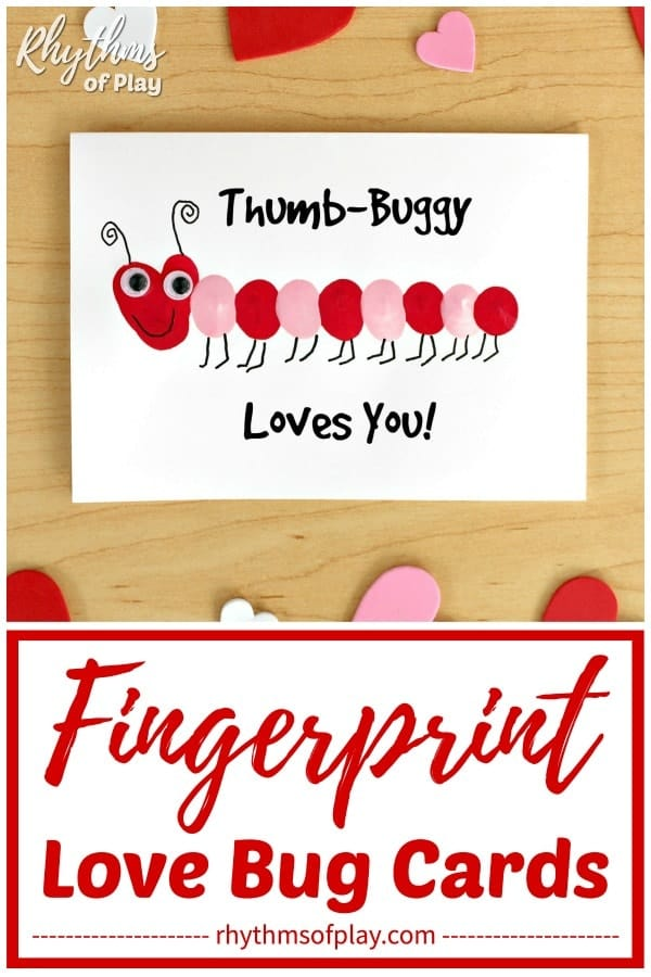 Fingerprint love bug card idea