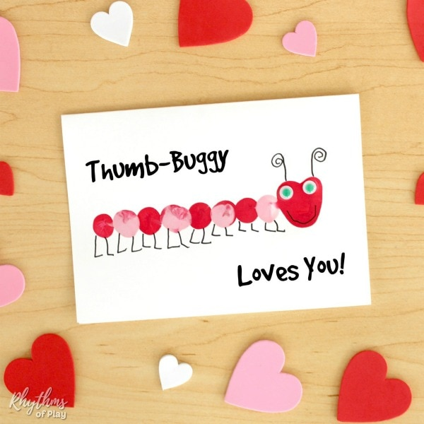 Fingerprint love bug card - Thumb-buggy loves you