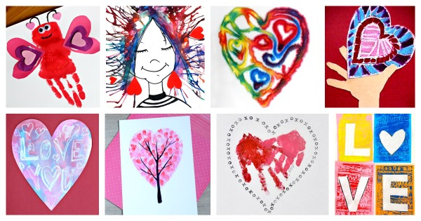 Art projects and painting ideas for Valentine's Day