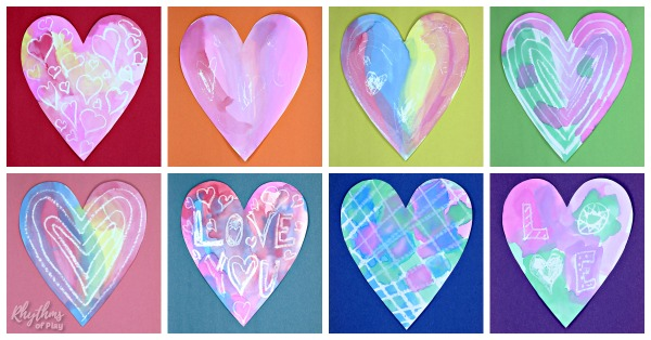 watercolor heart painting ideas