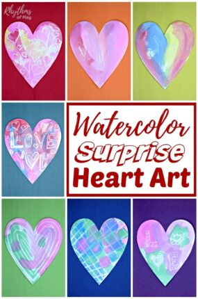 heart watercolor painting ideas