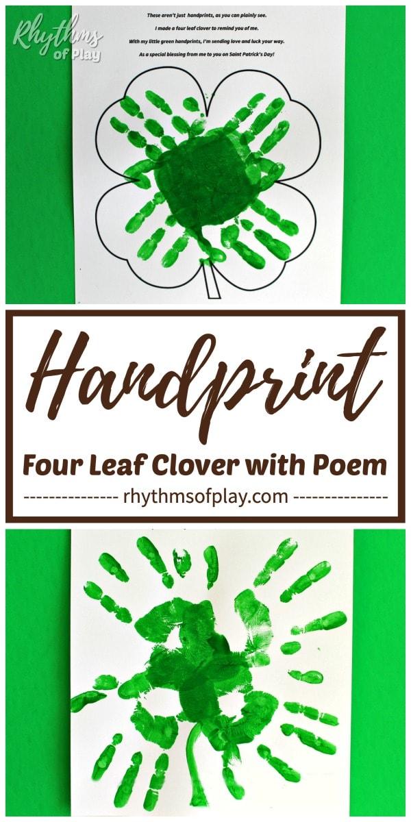 four leaf clover handprint poem