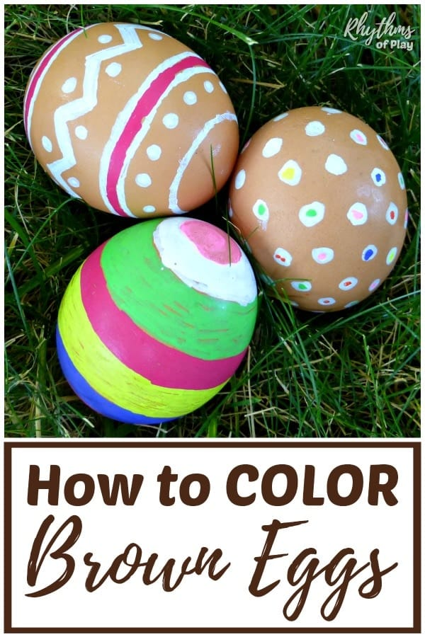 Can you color brown eggs? Yes, you can with this Easter egg decorating hack.