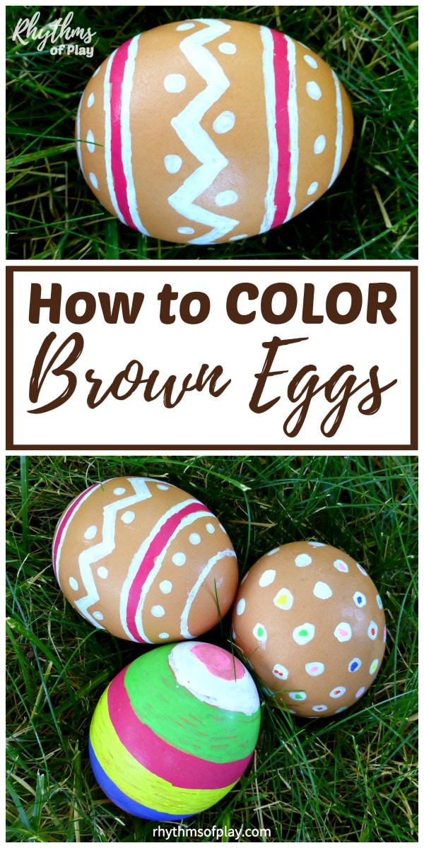 Can you color brown eggs for Easter? With this Easter egg decorating hack you can!