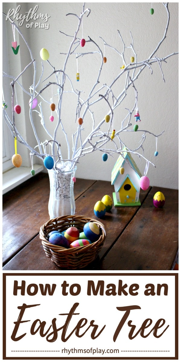 Easter egg tree DIY spring decor