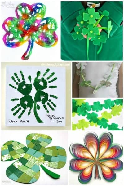 shamrock and four leaf clover arts and crafts