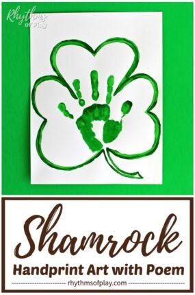 Saint Patrick's day handprint shamrock