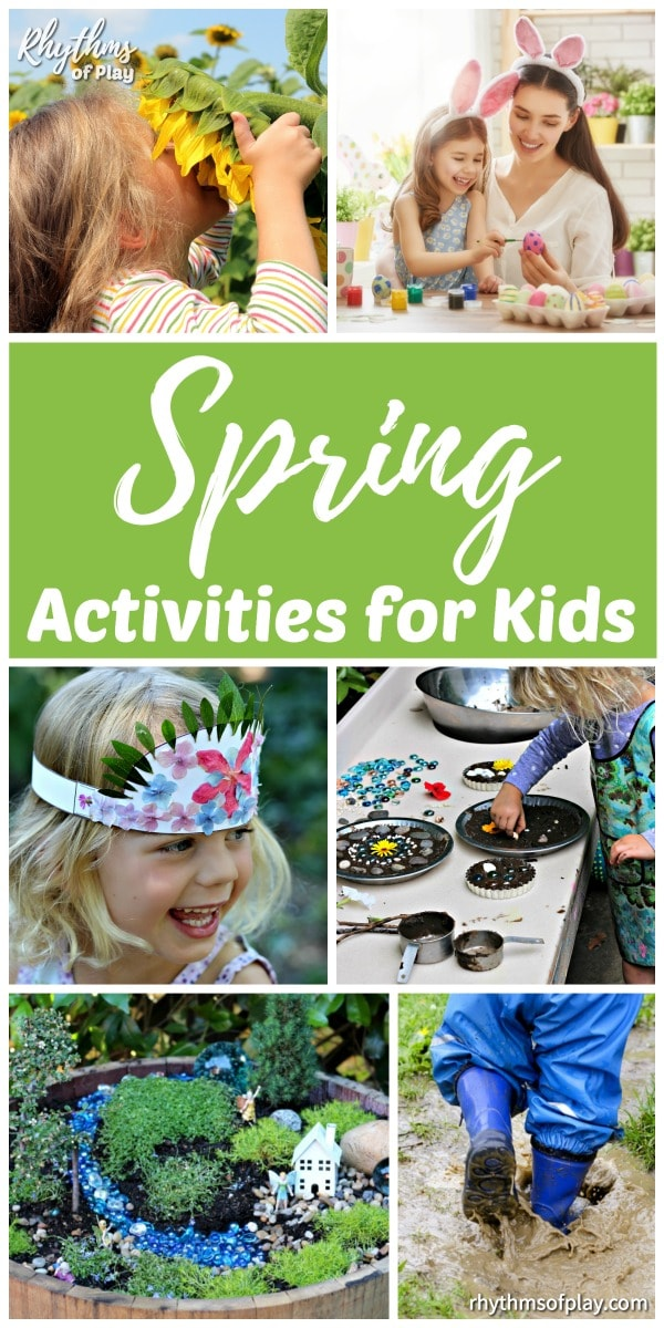 Spring activities art projects and craft ideas for kids (and adults!)