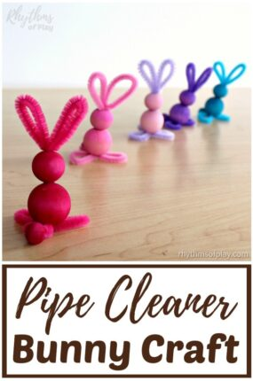 how to make pipe cleaner bunnies with wooden beads
