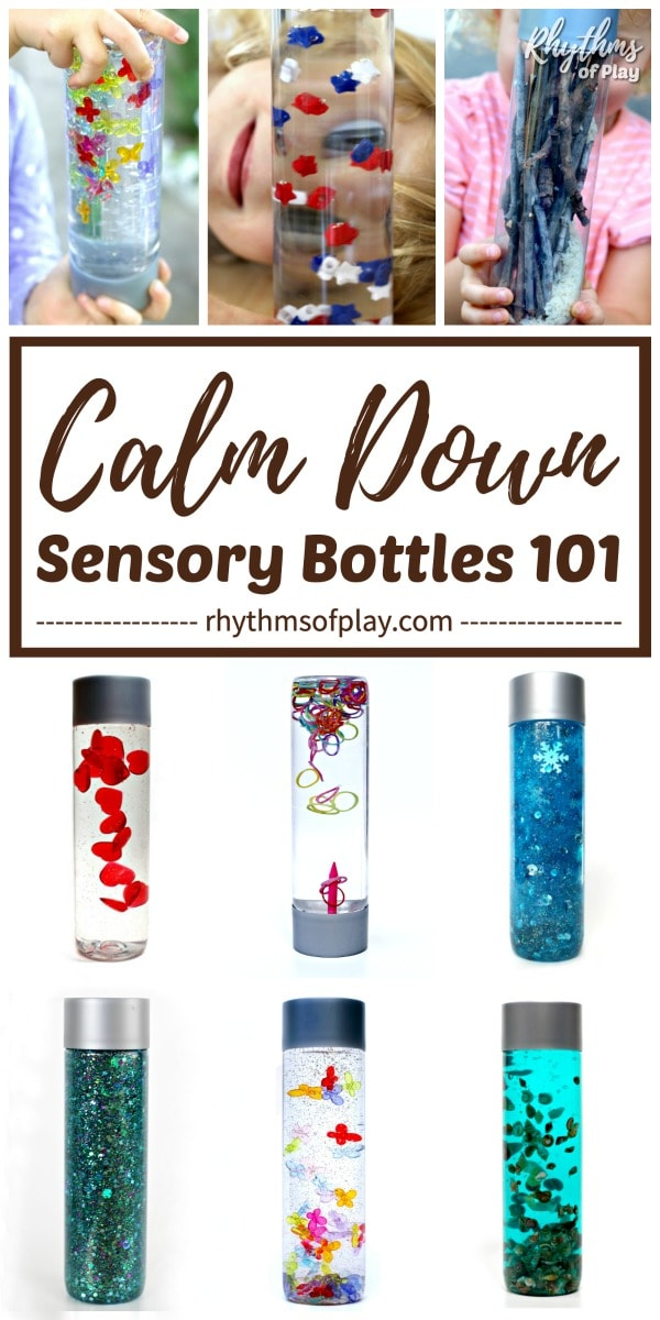 DIY Calm Down Sensory Bottles 101 | Rhythms of Play