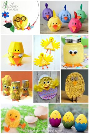 cute baby chick craft ideas for kids and adults