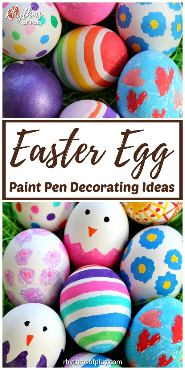 Paint pen Easter egg decorating ideas for kids and adults!