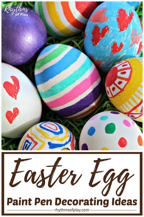 How to decorate Easter eggs with paint pens