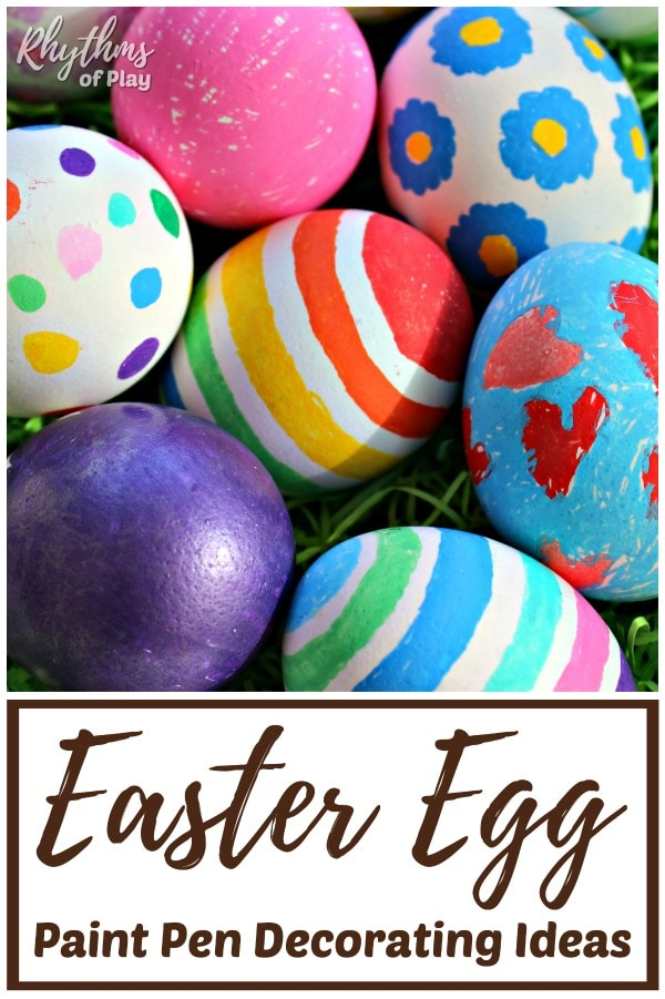 How to decorate Easter eggs with paint pens.