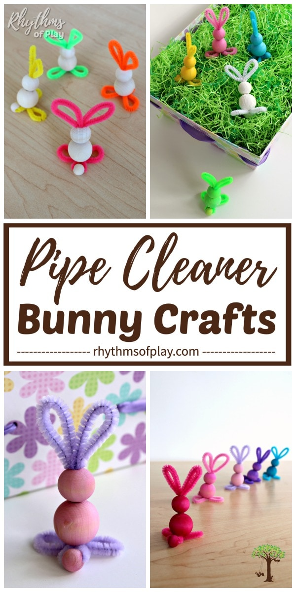 Easy bunny pipe cleaner crafts