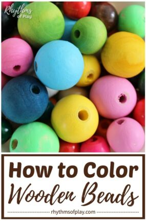 dye wooden beads - how to color wooden beads for arts, crafts and jewelry making projects