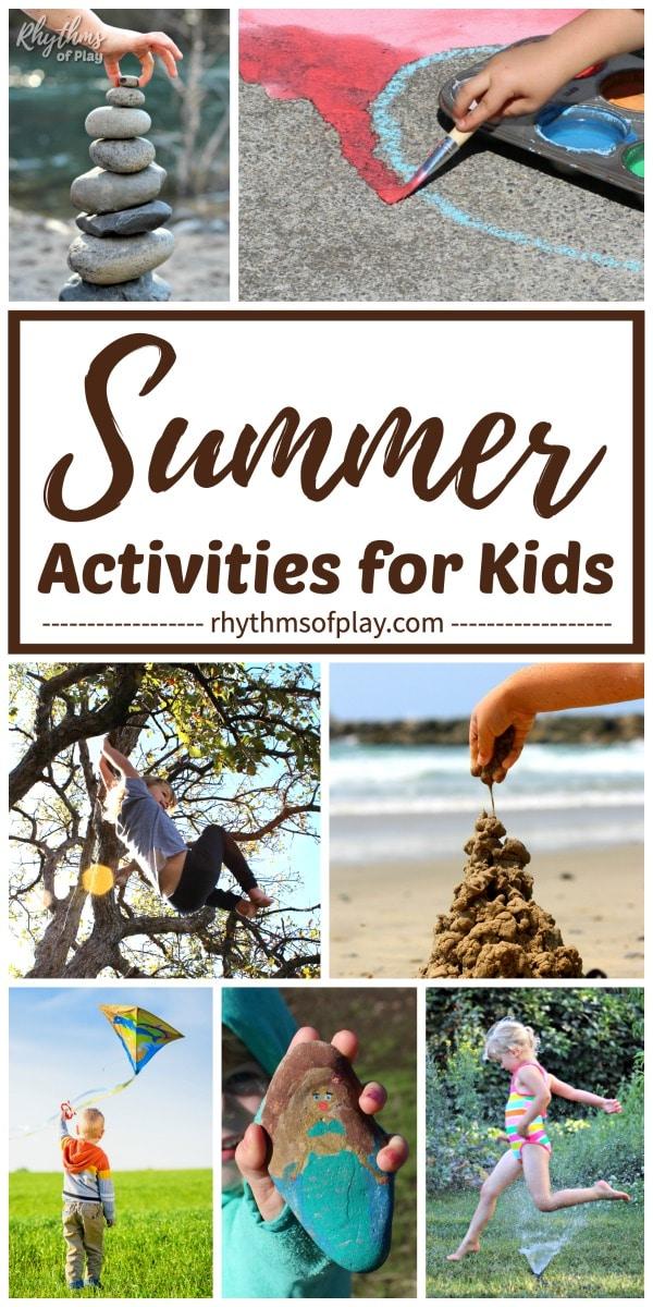 summer bucket list of fun summer activities for kids