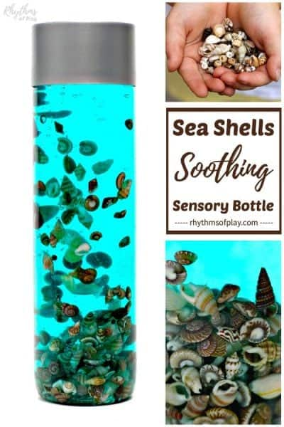 seashell calming sea shells sensory bottle diy