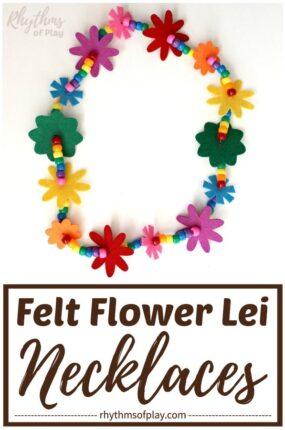 Rainbow lei flower necklace tutorial