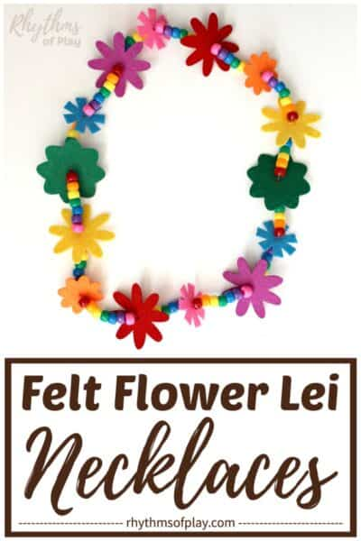 Rainbow lei flower necklace tutorial