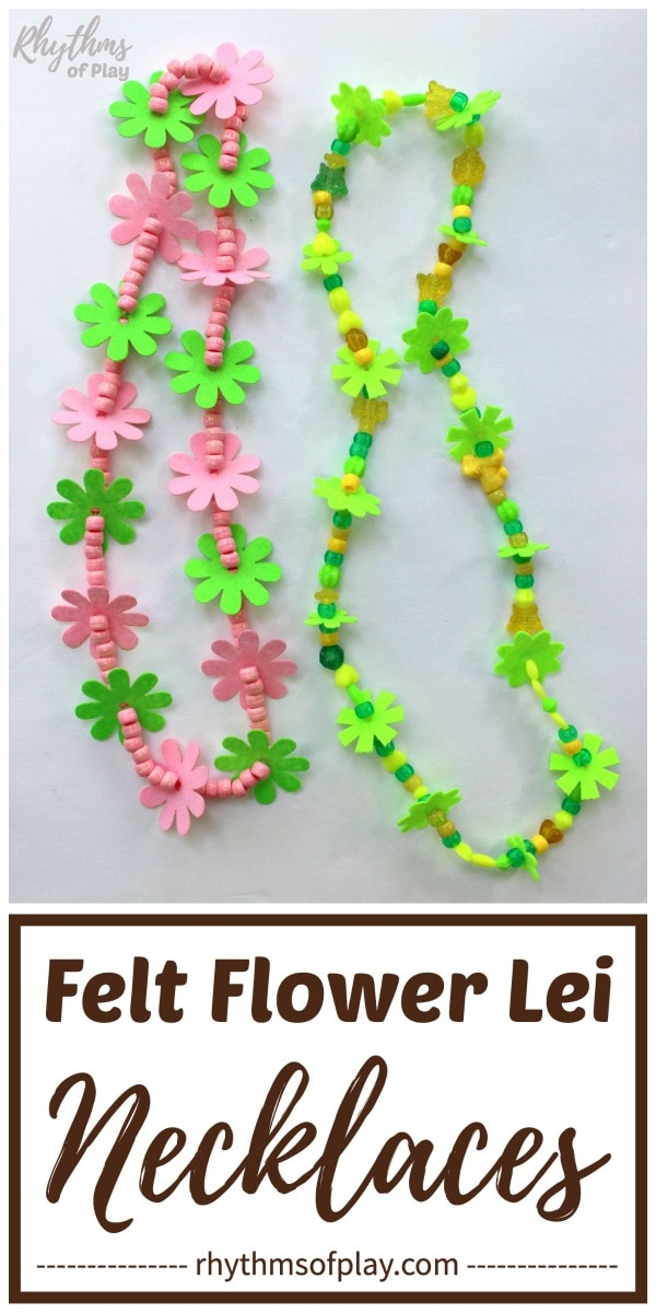 flower lei necklace diy