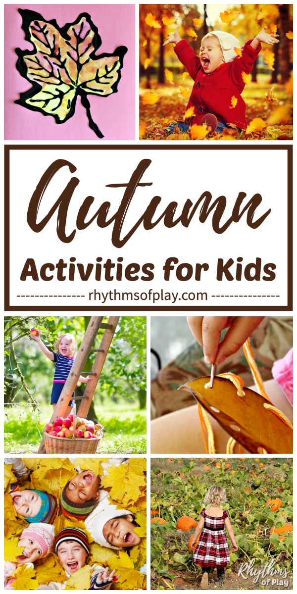 fun fall activities for kids - fall bucket list of ideas for kids